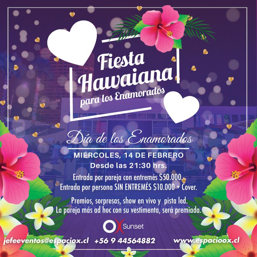 Fiesta Hawaiana 2018 en Espacio OX Iquique.
